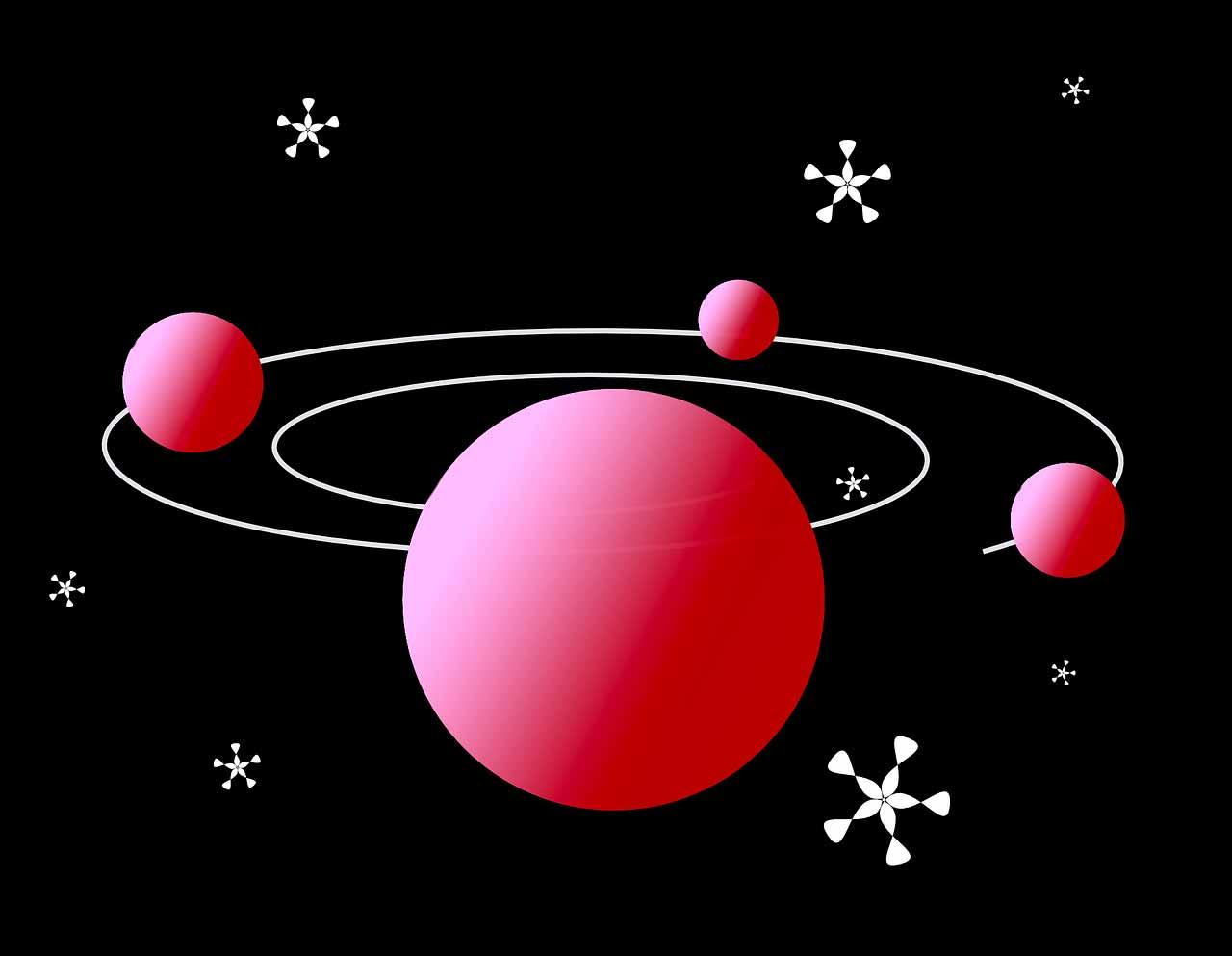 Une illustration représentant le système solaire