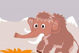 Une illustration représentant un mammouth
