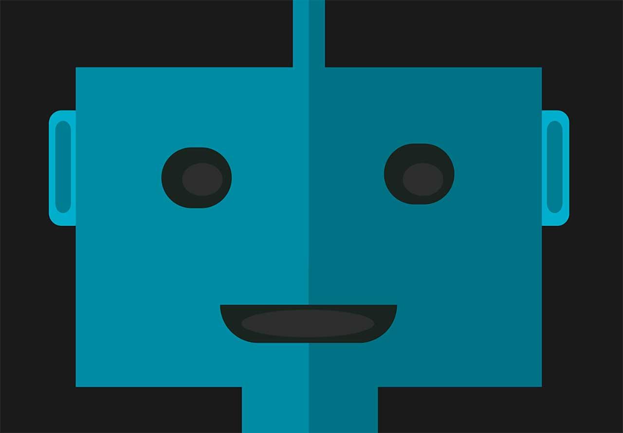 Une illustration représentant un robot