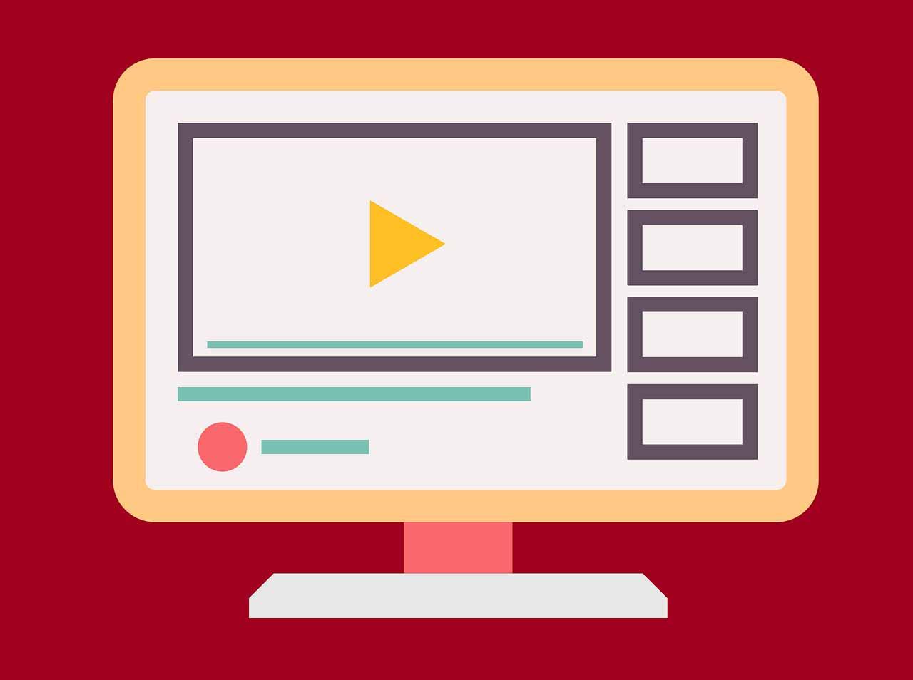 Une illustration représentant un site de vidéos populaire