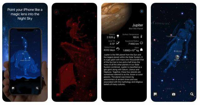 Une capture de Starlight : Carte du ciel