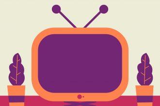 Une illustration représentant une télévision