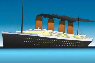 Une illustration représentant le Titanic