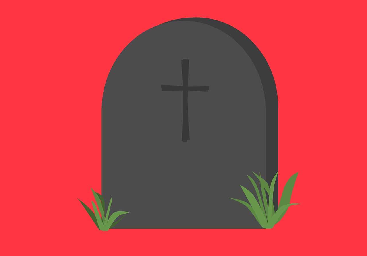 L'illustration d'une pierre tombale