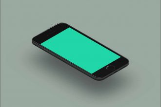 Une illustration représentant un smartphone