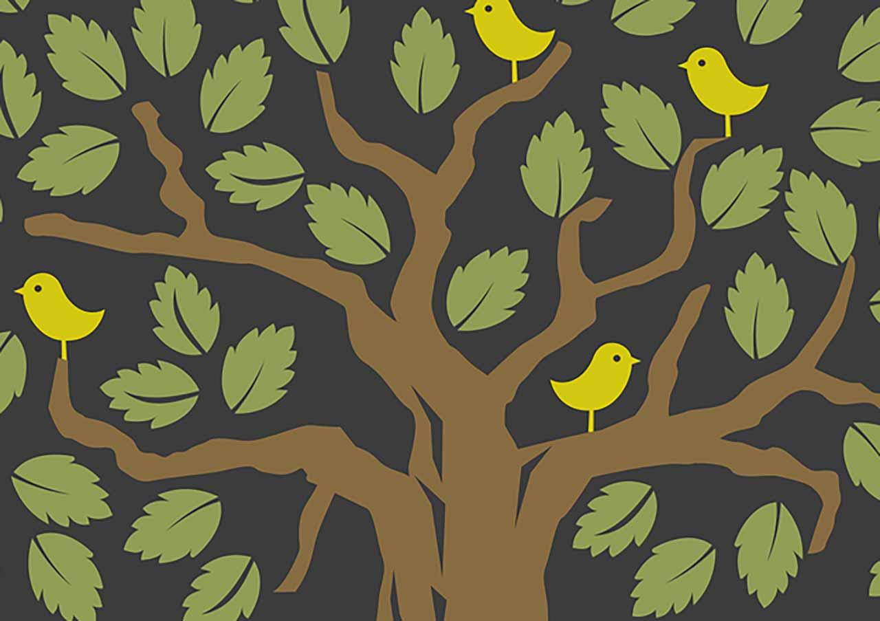Une illustration représentant un arbre