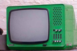 Une vieille télévision