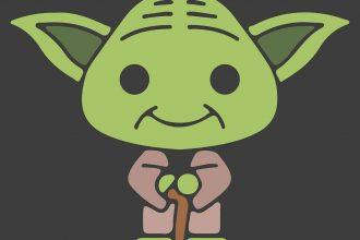Yoda dans Star Wars, ou plutôt une illustration le représentant