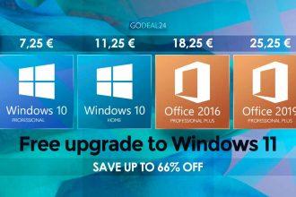 La clé Windows 10 à prix cassé avec GoDeal24