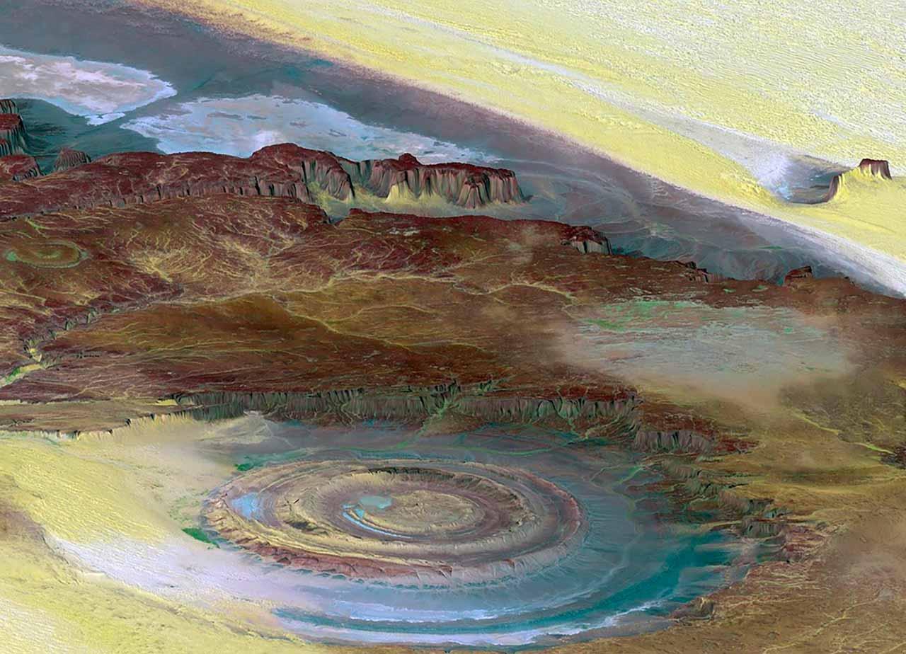 L'illustration d'un cratère
