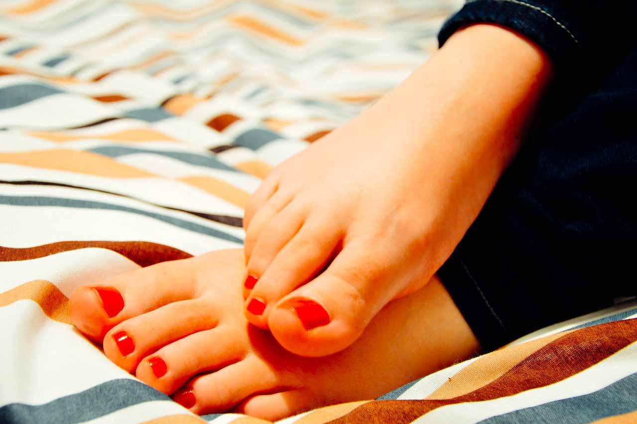 La photo de pieds