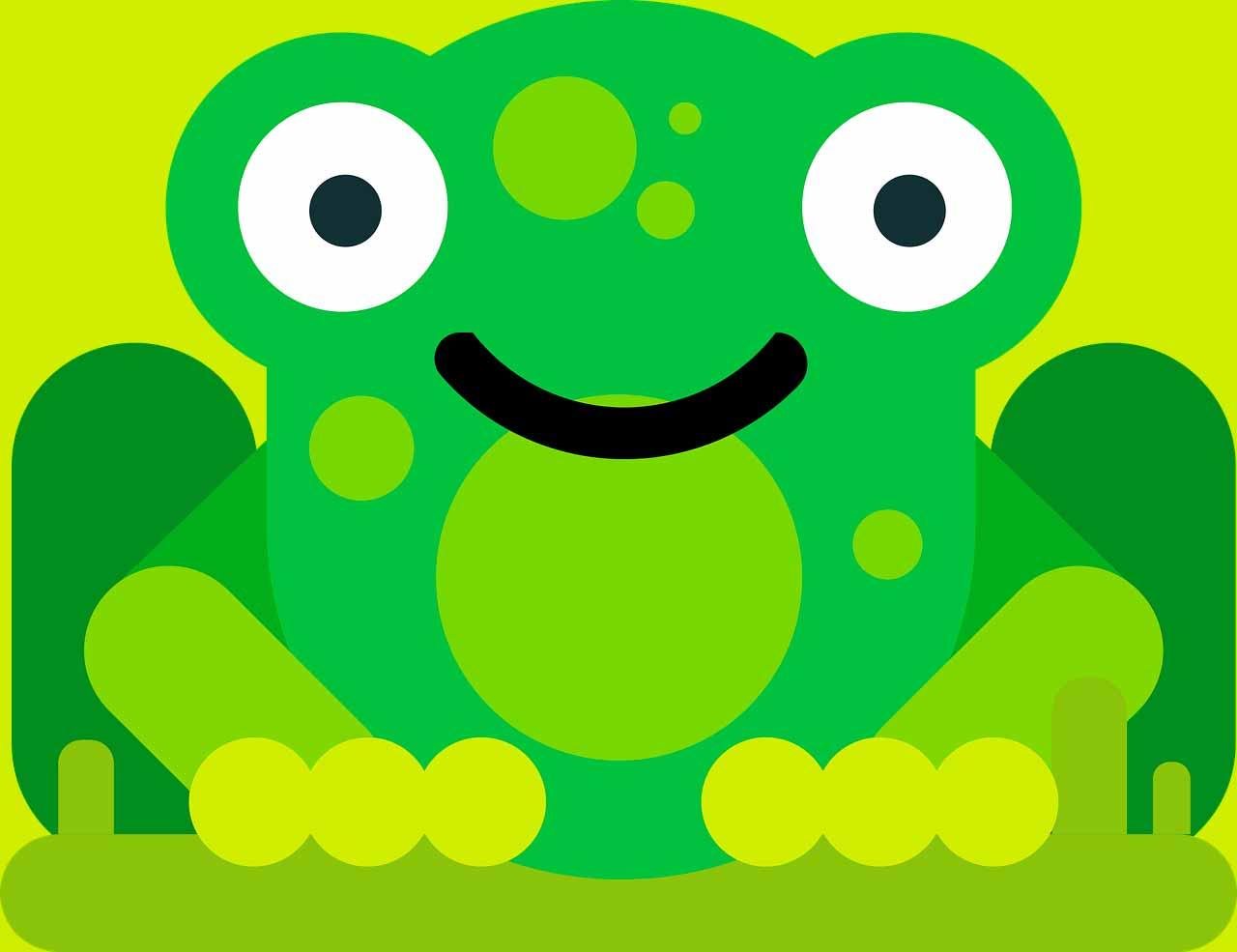 L'illustration d'une grenouille