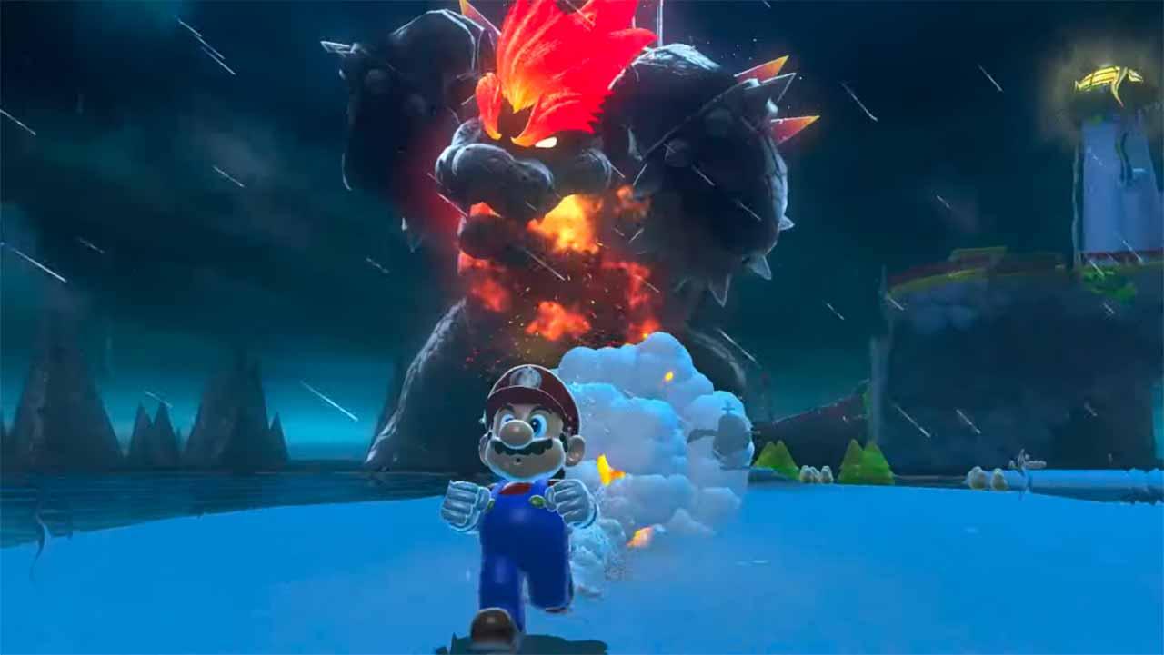 Une capture de Mario sur la Switch