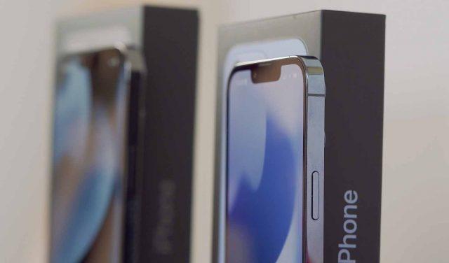 Les bordures des iPhone 13 Pro sont en acier inoxydable